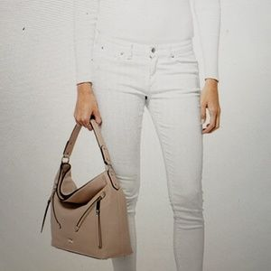 Mk Evie Pebbled Leather Shoulder Bag